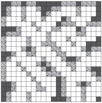 giant 20x20 kakuro grid