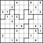 Larger irregular region sudoku