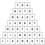 Word Pyramid Puzzle